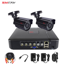 Video surveillance system CCTV Security camera Video recorder 4CH DVR AHD outdoor Kit Camera 720P 1080N HD night vision 2mp set smartyiba 9 inch 720p security cctv system night vision camera de surveillance home video cctv cameras dvr nvr surveillance kit