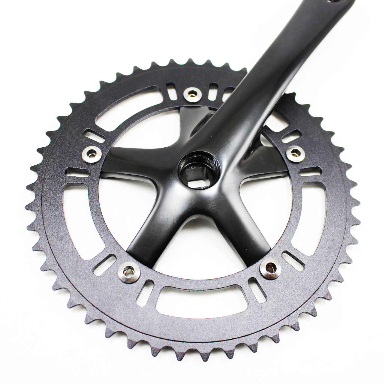 Crank  Crankset  170mm   46t Tooth Silver 130 BCD Single Speed Fixie Track
