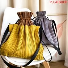Large Capacity Pleated Pleat Pack Handbag Shoulder Bag Women New