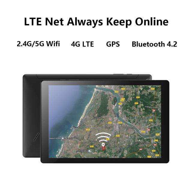 Tablet PC Chuwi - Tela de 10.1 Polegadas - Sistema Operacional Android 10 - 6GB de memoria RAM -  Processador Octa-Core - 128GB Armazenamento Interno -   Suporte 4G  5