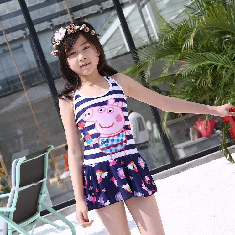 KID'S Swimwear GIRL'S One-piece Princess Dress-Cute Kids Girls Baby Big Boy Cartoon Beach Tour Bathing Suit