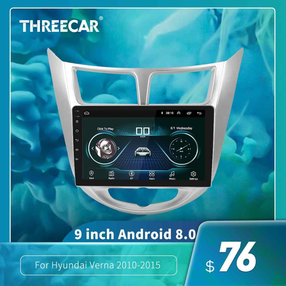 9 Inch 2din Car DVD Radio Player MP5 Multimedia Player untuk Hyundai VERNA Solaris 2010-2015 Mirrorlink iPhone Android kamera Mobil