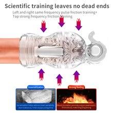 vibrator Penis Training Vibrating Device Male Masturbating Equipment Genital Organs Enlargement Trainer Household Man Use