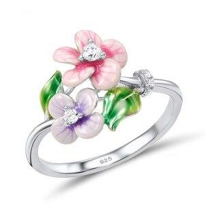 Модные элегантные серебряные кольца в виде цветов для женщин в богемном стиле, тонкое кольцо для свадебного коктейля, ювелирные изделия