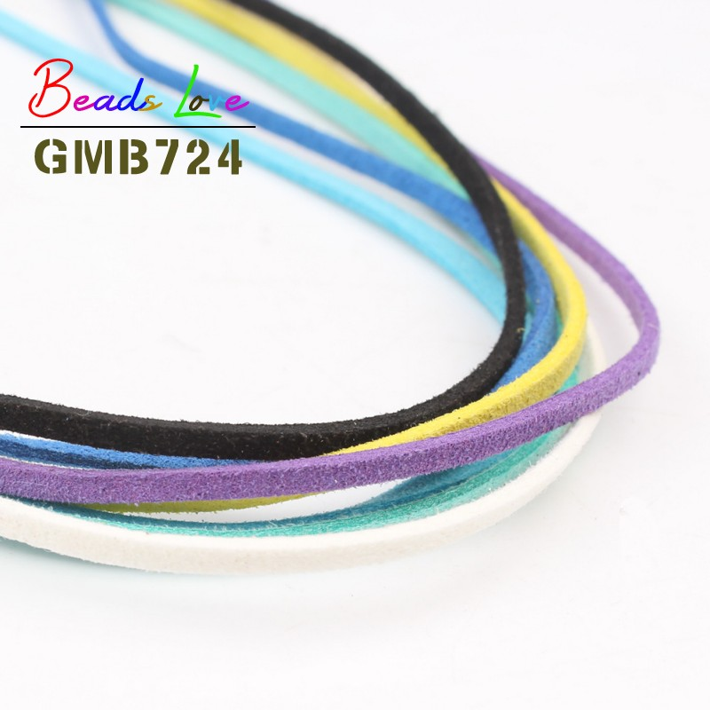 5meters 10 colors Korean Velvet Rope Thread String Charms Bracelet Wire Cord for Jewellery Making Necklace Jewelry Findings DIY in Jewelry Findings Components from Jewelry Accessories