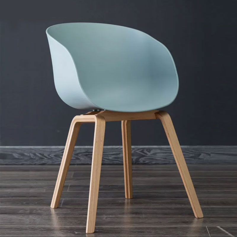 Nordic Bar Chair Modern Simple Leisure Solid Wood Backrest Bar Household Coffee Shop Non Slip Foot Pad High Chair