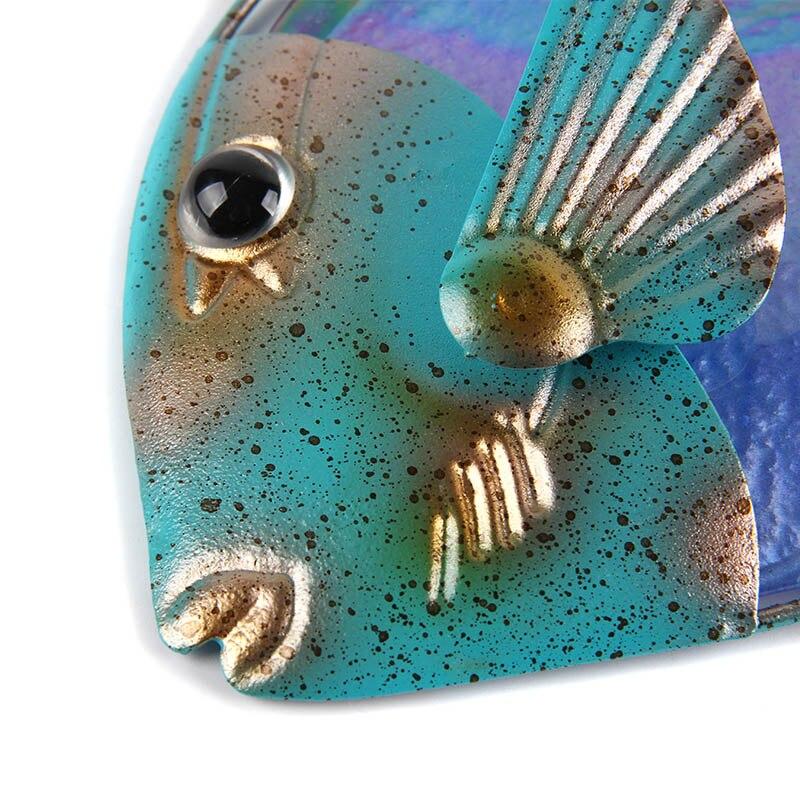 Дом Декор Рыба Стена Работы для Сада Скульптура Украшение Животные сад Статуи и Джардинерия Фея