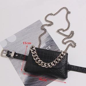 Image 2 - Fashion Womens Waist Bag Leather Belt Bags Fanny Pack High Quality Chain Waist Packs Hip Pack Multifunction Crossbody Handbag