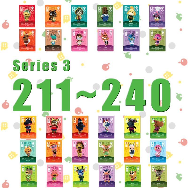 Animal Crossing Card Amiibo Card Work For NS Games Series 3 (211 To 240)