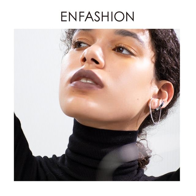 enfashion круг кисточкой кафф серьги клипсы для женщин золотой фотография