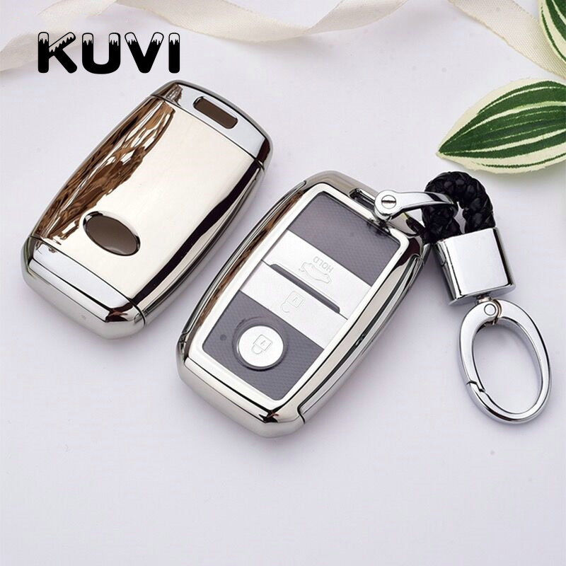 New Tpu Car Key Case Cover Keyless Fob Shell Skin For Kia K3 K3S K4 K5 KX3 KX5 Sportage R Sorento Carens Carnival Shuma Keychain