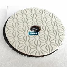 цена на Hot Sale 100mm Dry And Wet polishing 4 inch 3 Step Diamond Polishing Pads For Marble And Granite