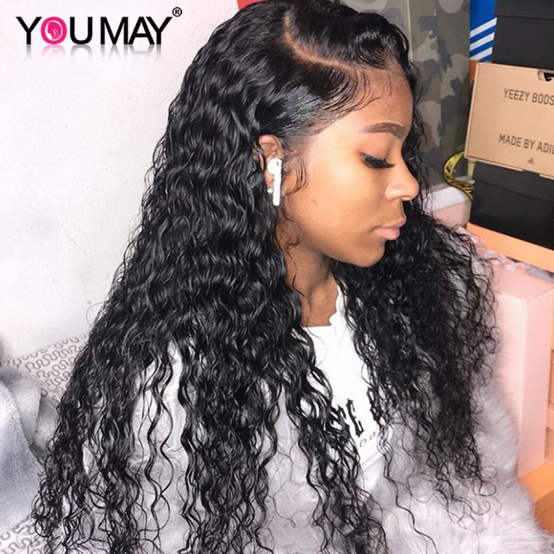 Deep Wave Wig 13x6 Lace Front Wigs For Women Brazilian 250% Density Lace Front Human Hair Wigs With Baby Hair You May Remy Hair