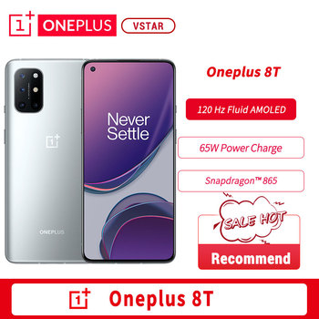 Global Rom OnePlus 8T 8 T OnePlus Official Store 8GB 128GB Snapdragon 865 5G Smartphone 120Hz AMOLED Fluid Screen 48MP Quad 65W 1