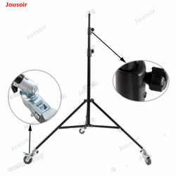 Moving 2.8m high iron lamp holder with brake pulley professional film and television photography headlight legs CD50 T03