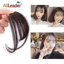Alileader – postiche frange à frange d'air, 100% cheveux humains, frange fine, frange avant soignée, avec Clip, bon marché