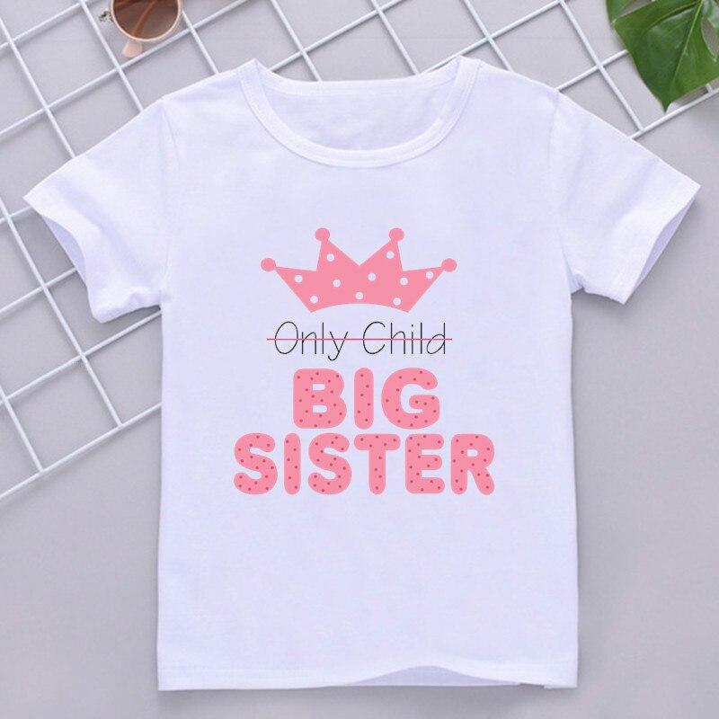 Детская футболка, летняя модная детская футболка, футболка с коротким рукавом, топы, рекламируемые на старшую сестру 2021, детская одежда с бу...