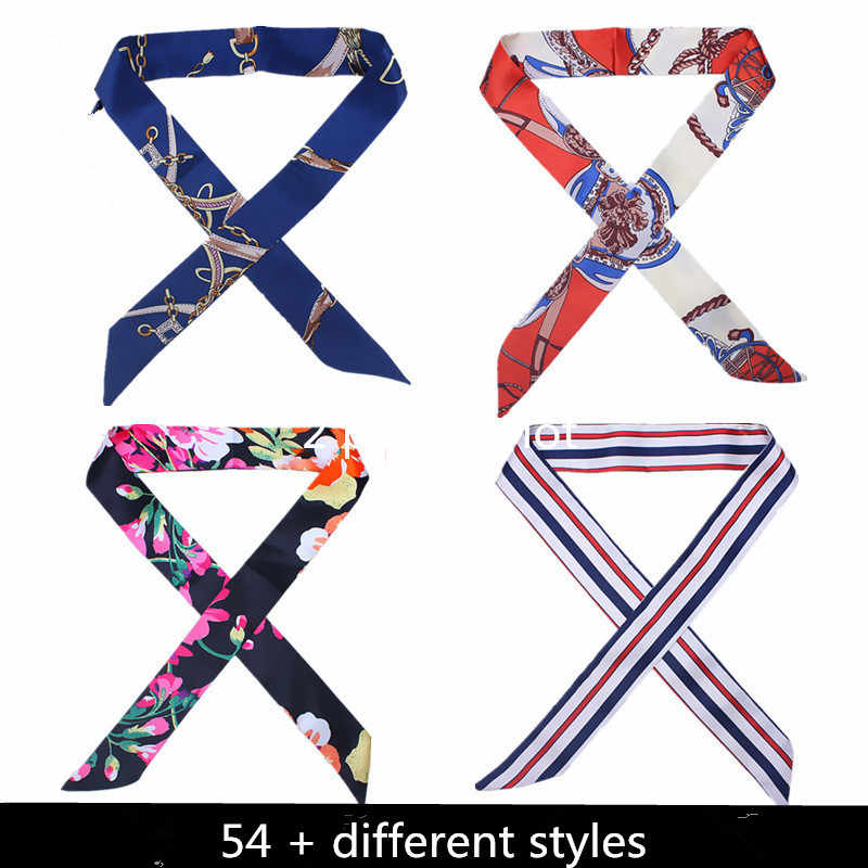38 couleurs nouveau foulard en soie femmes bandeau rubans attachés écharpe sac décoration cravate multifonction main ruban écharpe 4*100cm foulard