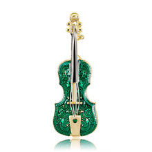 Korean fashion personality Joker violin brooch alloy drop spot AliExpress selling like hot cakes