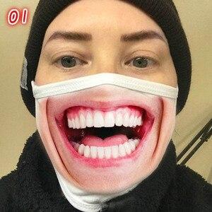 Эластичная забавная маска унисекс для лица, против пыли, дышащая, моющаяся, многоразовая, для Хэллоуина, вечерние, модные маски, аксессуары