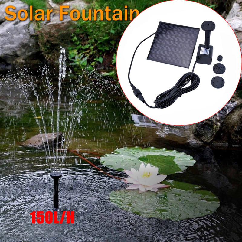 AKDSteel Solar Powered Fountain Pump, 7V Energy-Saving Submersible Solar Water Pumps For Garden Pond
