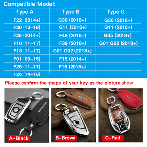 Image 5 - Capa para chave de carro de airspeed, cobertura para chave em carro para bmw f22 f30 f36 f10 f13 f01 f25 f26 f15 f16 f48 acessórios f39, g30, g11, g05, g01, g02