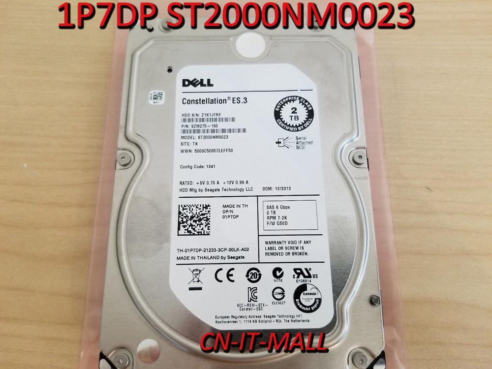 New ST2000NM0023 1P7DP 01P7DP 2TB 7.2K 6G 3.5