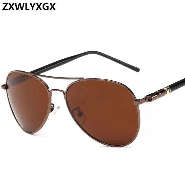 Clásico gafas de sol polarizadas conducción de los hombres gafas negro gafas de sol de aviador de marca de diseñador para hombre gafas de sol Retro Para hombres/mujeres 6
