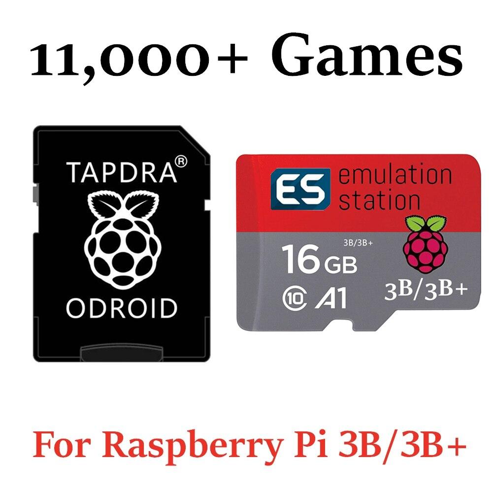 16gb sandisk microsd cartão para todos os raspberry pi 2/3 & 3b + modelos com mais de 11,000 jogos retropie 4.4 pré-carregado