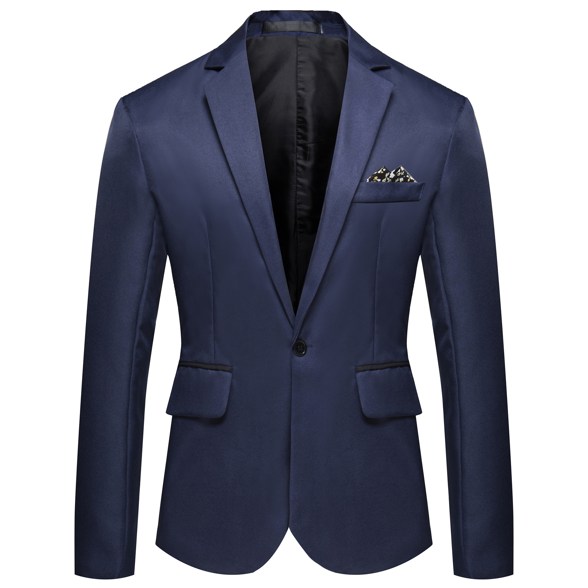 Autumn And Winter New Style Solid Color Versatile Men's Suit Hot Sales Large Size Men Single Row Of A Buckle Small Suit