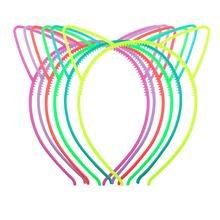 1pc Glowing Cute Plastic Cat Ears Headband Kids Girls Halloween Xmas Luminous Ear Hair Hoop Tiara Hairband Accessories