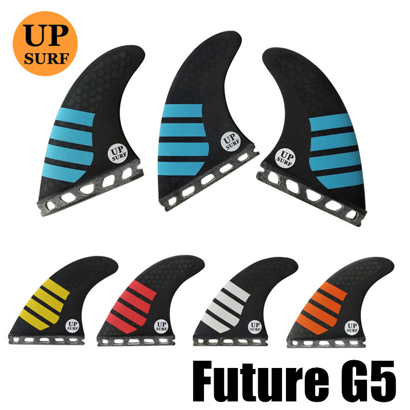New Future G5 Carbon Free Shipping Fiberglass Honeycomb Surfboard Fin Thruster Future G5 Fin Surf Fins Size  M Fins Top Quality