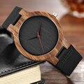 Кварцевые часы деревянные мужские часы Уникальный дизайн Топ люксовый бренд деревянные бамбуковые спортивные наручные часы черное лицо ...