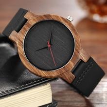 Quartz Watches Wood Mens Clock Unique Design Top Luxury Bran