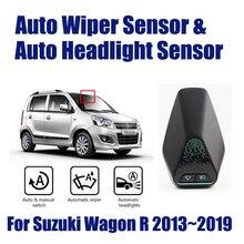 цена на For Suzuki Wagon R 2013~2019 Car Automatic Rain Wiper Sensors & Headlight Sensor Smart Auto Driving Assistant System