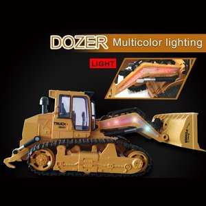 2.4G Remote Control Rc Excavator Truck Toys Simulation RC Engineering Car Tractor Crawler Digger Brinquedos Toy For Kids Gift