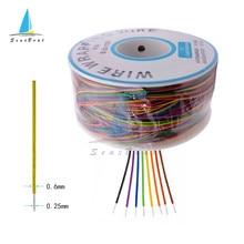 B-30-1000 Eine Rolle 8 Farben 30AWG Wire Wrapping Draht Verzinnten Kupfer Feste PVC Isolierung Kabel 280m
