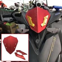 Для Yamaha Aerox155 NVX155 150 125- Мотоцикл с ЧПУ Алюминиевый дефлектор ветрового стекла Защитная декоративная крышка