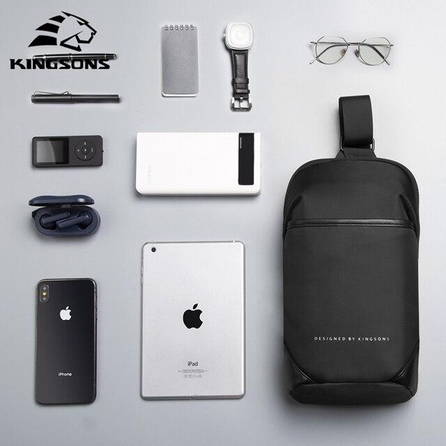 Kingsons Anti-theft Crossbody Bags Male Waterproof Chest Pack Short Trip Messenger Sling Bag Shoulder Chest Bag 5