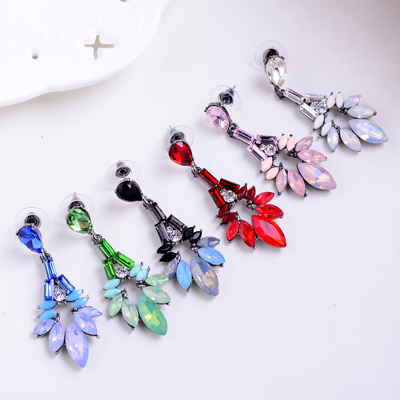 2015 Colorful Waterdrop High Quality Vintage Earrings For Women Fine Jewelry Fashion Elegant Wedding Earring Hot Sale (6)