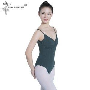 Image 4 - バレエダンスウェアバレエレオタード女性のための黒バレエダンスウェア大人のダンスの練習の服プロの体操レオタード
