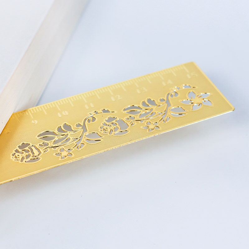 Customizable Bookmark Brass Brushed Metal Chinese-style Creative Farming Creative Students Gift Bookmark Lettering