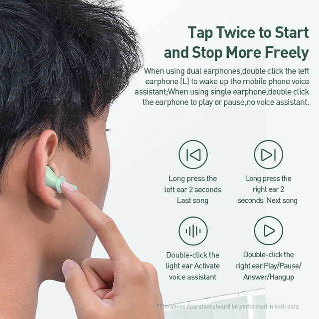 Baseus W09 TWS Bluetooth Earphone Touch Control With Stereo Bass Sound Smart Connect 6