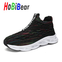Popular Boys Jogging Shoes Brand Fashion Kids Sock Running Shoes Autumn Gym Shoes for Girls Breathable Toddler Boy Sneakers