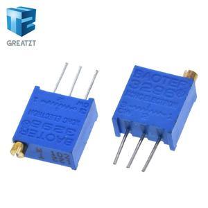 GREATZT 10pcs 3296W 1k 2k 5k 10k 20k 50k 100k 200k 500k 1M 1ohm Trim Pot Trimmer Potentiometer Type For Arduino