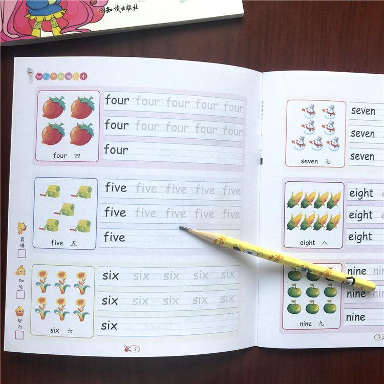 Caligrafia livros manuscrito pré-escolar crianças exercícios copybook