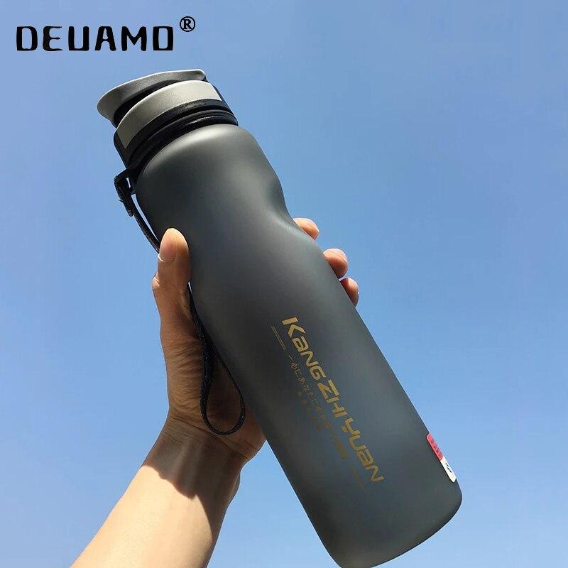 Спортивная шейкер-бутылка для воды, 600/1000 мл, пластиковая Спортивная бутылка для путешествий на открытом воздухе, портативная Герметичная К...