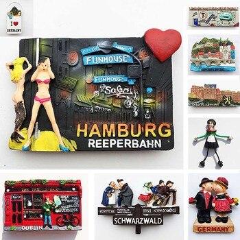 Germany Refrigerator Magnets Hamburg Schwarzwald Dublin Heidelberg Tourist Souvenirs Magnetic Stickers for The Fridge Home Decor 1pc resin refrigerator magnets 3d london brige travel souvenirs fridge magnets