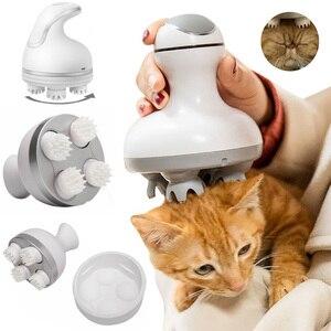 Электрический массажер для кошек и собак с лапой, ролики для релаксации, зарядка через USB, Shiastu, массажер, удобный ручной уход, товары для дома
