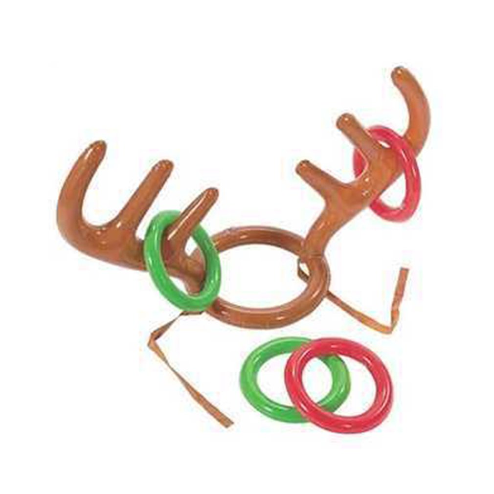 Pvc Inflatable Antlers Hat For Christmas Cute Antlers Hat Christmas Party Throwing Game Loop Deer Head Loop